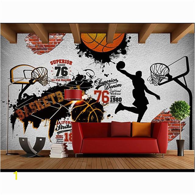 Children s Room Wall Papers 3D Sport Wallpaper Vintage Brick Wall Mural Bar Home Decor Self Adhesive Vinyl Silk Wallpaper