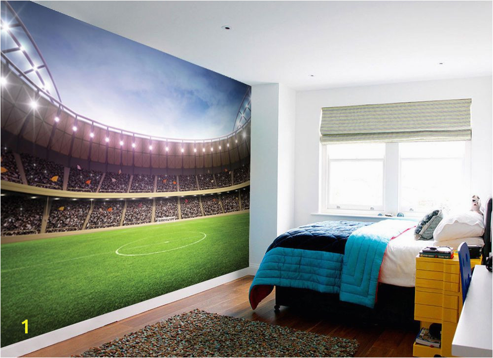 1Wall FOOTBALL STADIUM PITCH FOOTBALL GROUND WALLPAPER WALL MURAL 3 15m x 2 32m