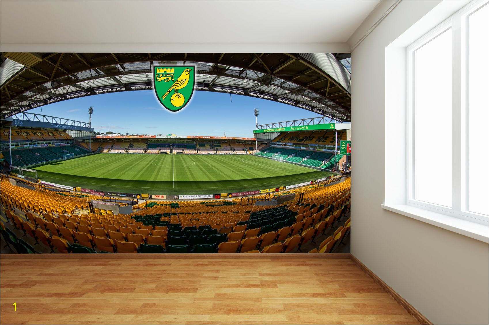 Norwich City FC Carrow Road Full Wall Mural 2 wall stickers
