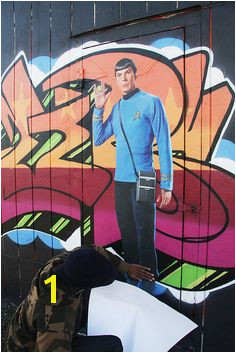 Star Trek Wall Graphic on Graffiti in SF by WALLS 360 via Flickr Spock