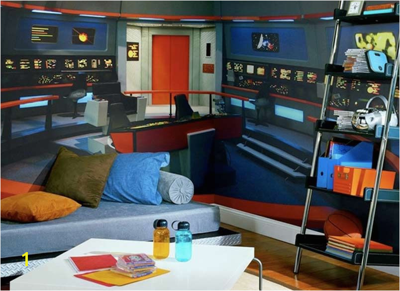 Star Trek Mural Star Trek Mural Transforms Any Room Into Nerd Womb