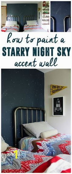 Night Sky Accent Wall Starry Sky Mural Star Accent Wall