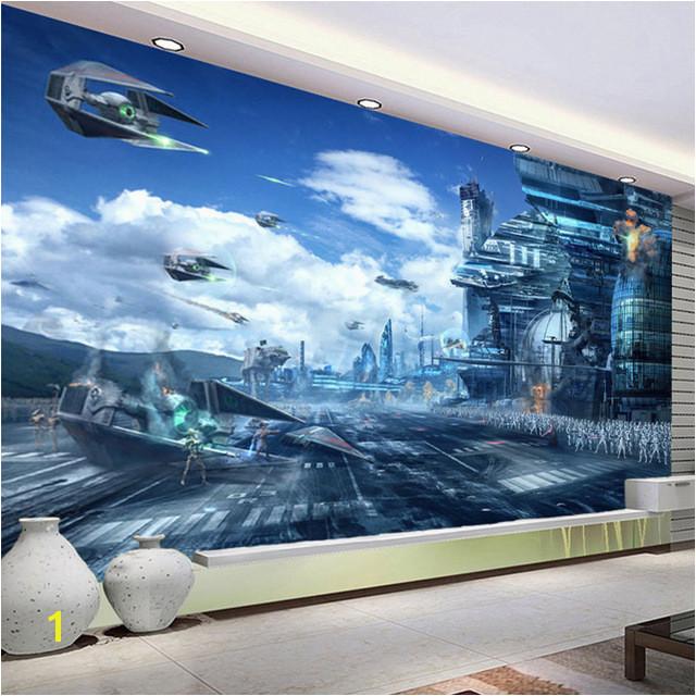 HD Fantasie Kreative Wandbild Star Wars Wissenschaft Fiction Foto Tapete kinder Schlafzimmer Wohnzimmer 3D Vlies Papier