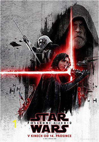 STAR WARS EPISODE 8 THE LAST JEDI Czech Wall Movie Poster Print 30CM X 43CM Brand New VIII Amazon Kitchen & Home