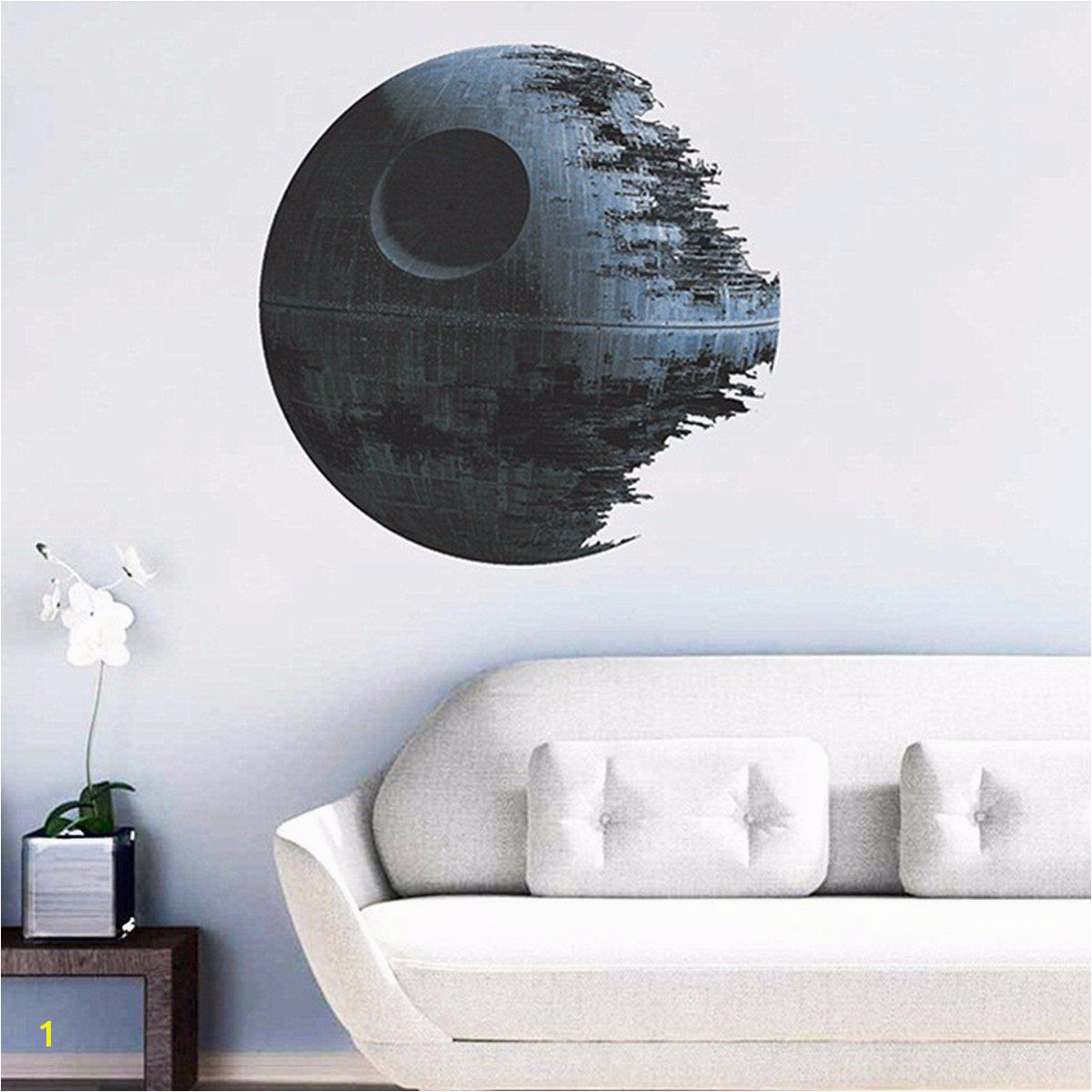 New Design Creative Star Wars Necrosis The Planet Home Decoration Wall Sticker Living Room Sofa Wall Decals Bedroom Wallpaper