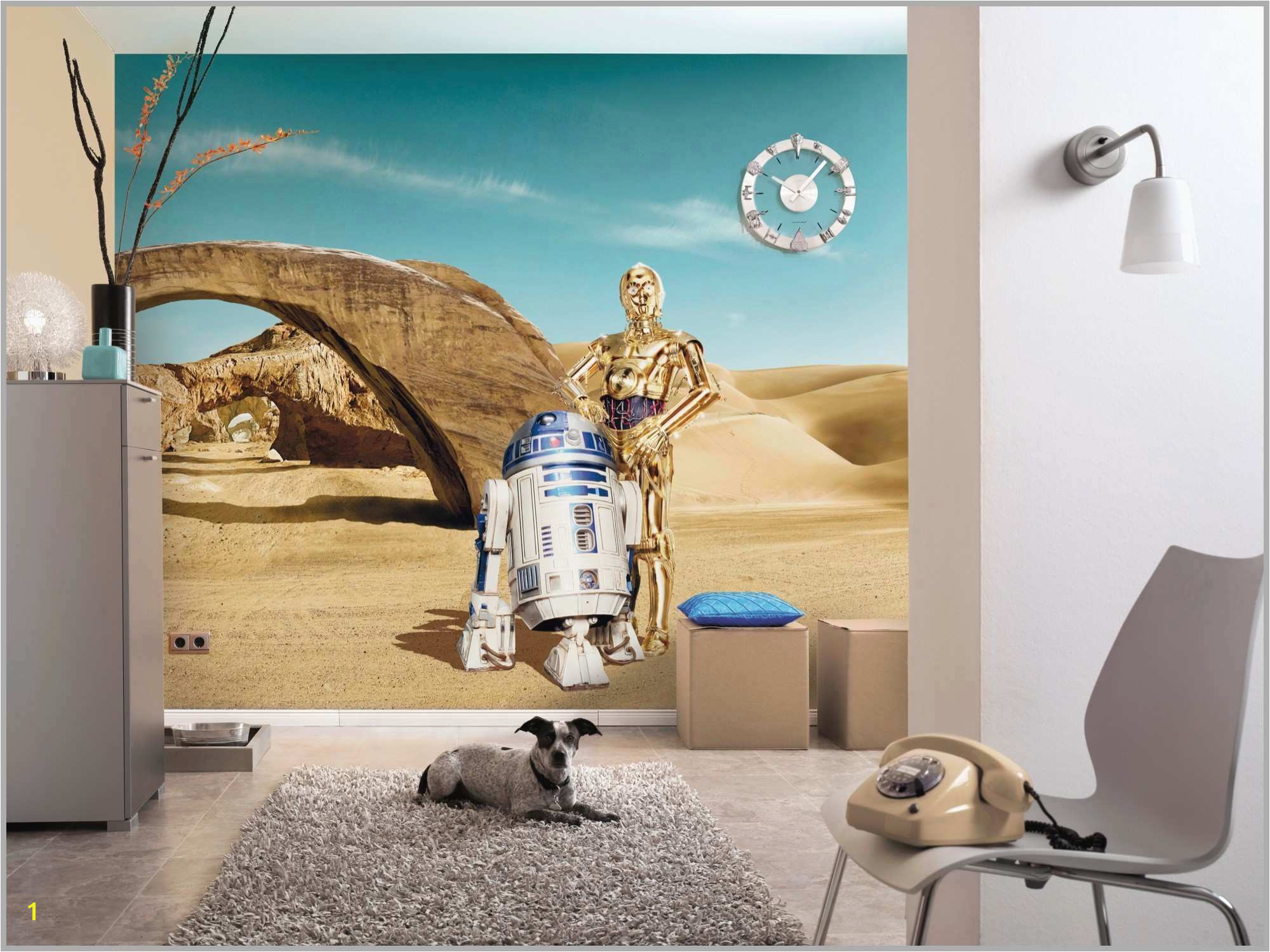 "Bedroom Wallpaper Murals Pretty Star Wars Home Decorations New Wall Mural ""star Wars Lost"