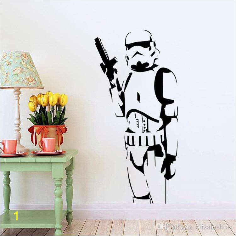 Star Wars Wall Decals Silhouette DIY Home Decoration Mural Removable Bedroom Stickes Hot Wall Decal Decor Wall Decal Decorations From Elizafashion