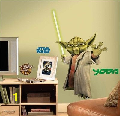 Star Wars Wall Murals Wallpaper Yoda Clone Star Wars Mural Carver S Room Pinterest