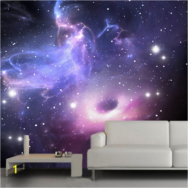 3D Wallpaper Modern Simple Starry Sky Space Mural Restaurant Theme Hotel Living Room High Quality