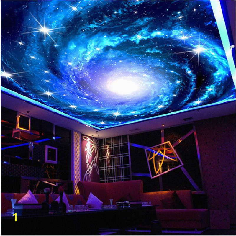 Starry Sky Galaxy Full Wall Ceiling Mural Wallpaper Print Home 3D Decal SweetHome