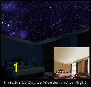 Starscapes in daytime your bedroom ceiling looks normal but when it s dark it s like star gazing through a glass ceiling