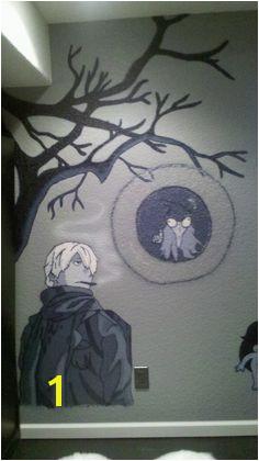 Bedroom tree mural