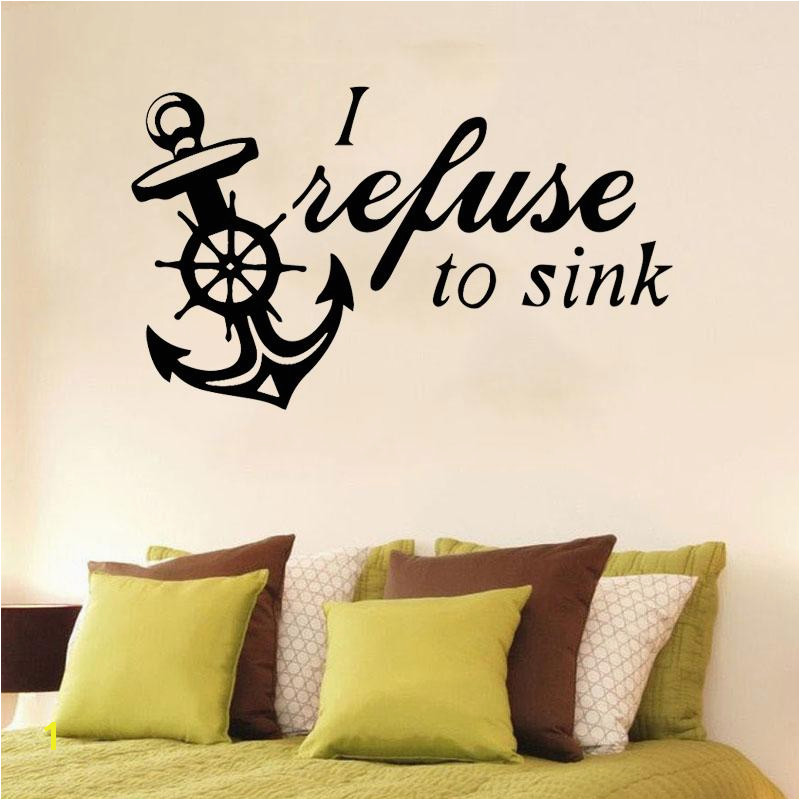 Boat Anchor DIY Sticker Waterproof Vinyl Wallpaper Home Decor For Living Room Bedroom Wall Stickers Murals Sticker Wall Murals Sticker Wall Quotes From