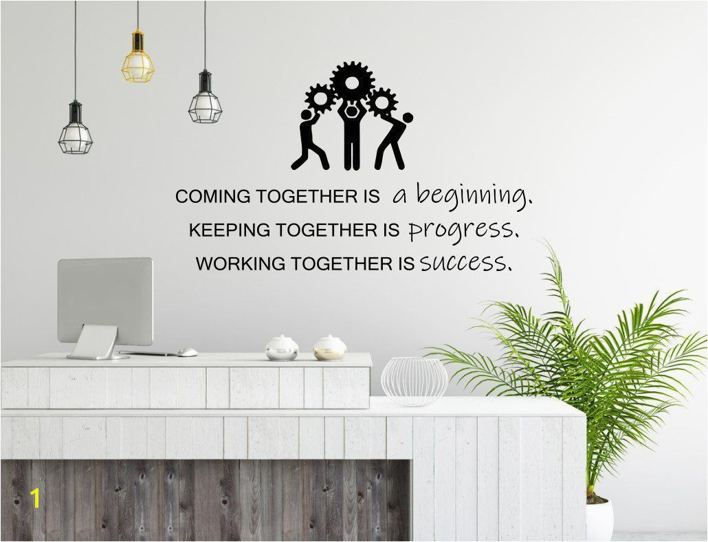 fice Wall Art Decal Teamwork Business Success Work Inspiration Quote fice Decor Motivation Vinyl Sticker Mural
