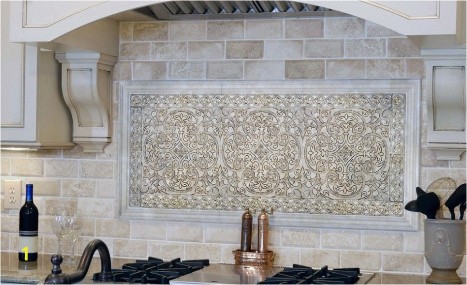 Kitchen Backsplash Chateau Stone Tiles With Warm Color Accent For…