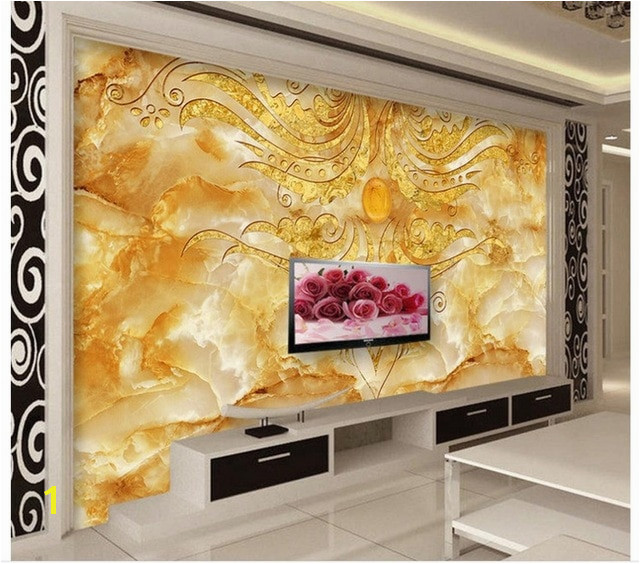 3d wall murals wallpaper Golden Flower Stone Marble Backdrop Wall photo 3d wallpaper custom 3d wallpaper