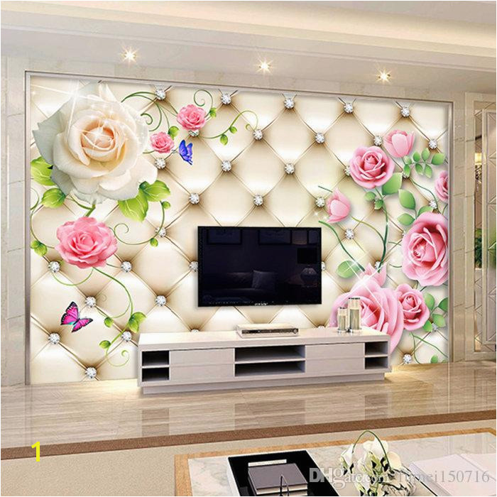 Video Wall Seamless Mural Sitting Room TV Setting Wall Paper Europe Type 3 D Soft Package Wallpaper Roses Screensaver Wallpaper Screensaver Wallpapers