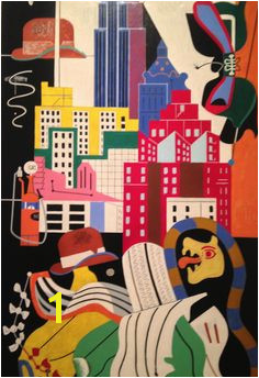 "Stuart Davis ""New York Mural "" Norton Museum of Art"