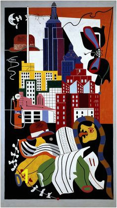 New York Mural by Stuart Davis from Norton Museum of Art Davis was an early American modernist painter He was well known for his jazz influenced