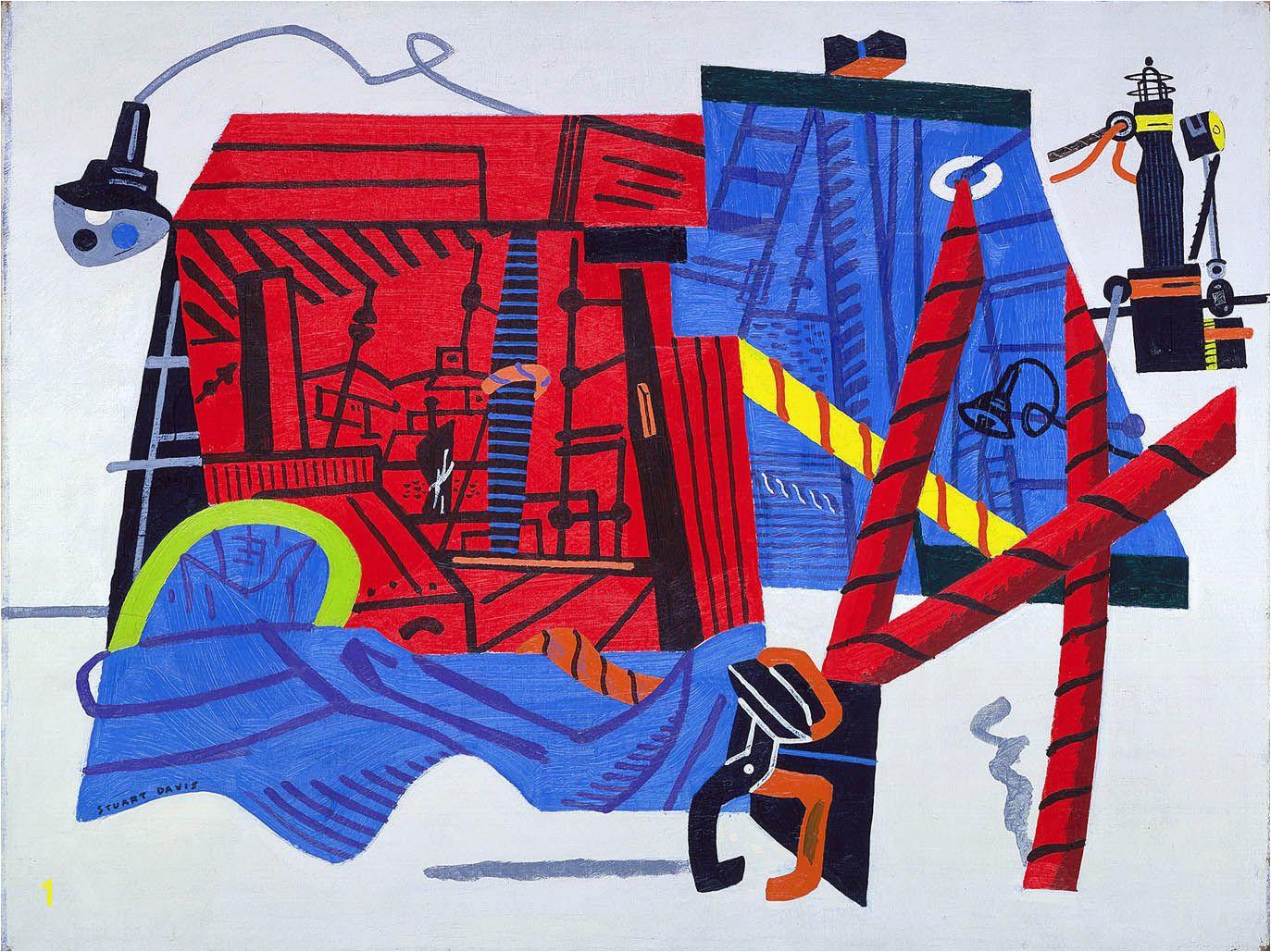 New York Mural Stuart Davis
