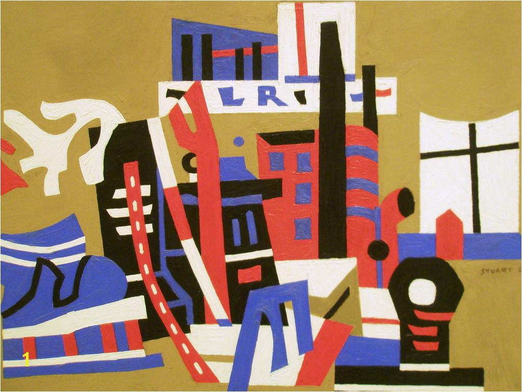 Buffalo Stuart Davis 1938 New York Waterfront Albright Knox Art Gallery Buffalo