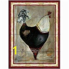Tile Mural French Rooster I JG Google Search Rooster Kitchen Kitchen Backsplash