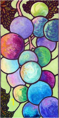 """Grape de Chine"" 12x24 Acrylic with co polymer pours on gallery wrap canvas"