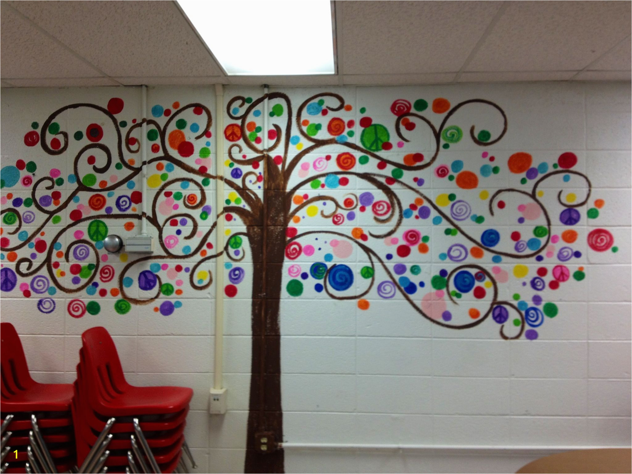 Bubble tree I painted in my classroom