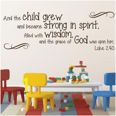 Luke 2 40 religious wall decor