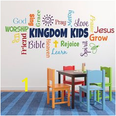 Word collage KINGDOM KIDS Sunday School Church Nursery Fellowship hall Inspirational Wall Vinyl Wall Words Vinyl Sticker RE3142