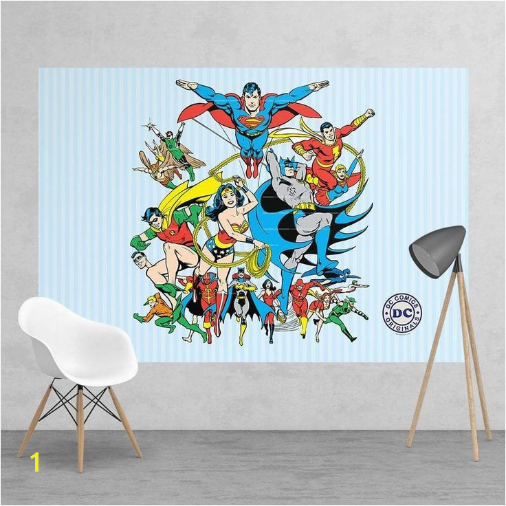 Dc ic Superhero Superman Wonder Woman Feature Wall Wallpaper Mural 158 X 232