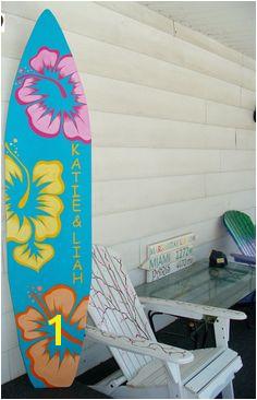 6 Foot Wood Hawaiian Surfboard Wall Art by HopelessRomanticShop $134 99 Surf Shack Surfboard Painting