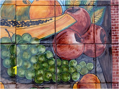 Bodegon Clay Talavera Tile Mural Details