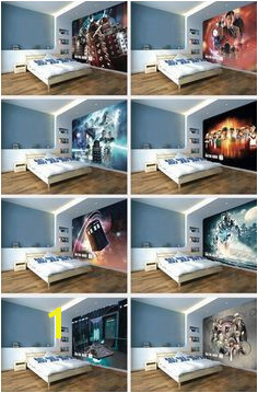 Doctor Who Wallpaper Mural – New Tardis Interior but for a gaming fandom room