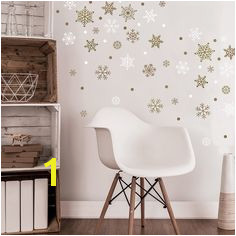 Gold Snowflake Wall Decals