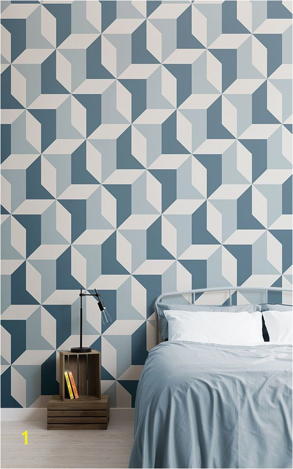 Teenage Wall Murals Uk Blue Geometric Wallpaper Abstract Design