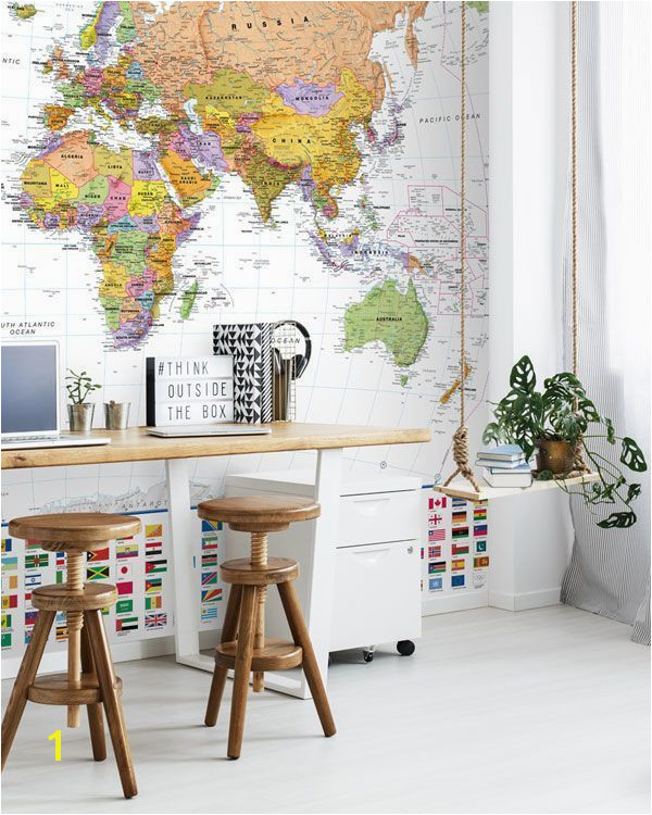 Made to your dimensions this vibrant map mural will make a great accent wall mapmural teenage teen