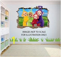 Teletubbies Effect Graphic Wall Vinyl Sticker Decal