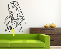 Pocahontas Wall Mural Walt Disney Vinyl Sticker Pocahontas Wall Vinyl Decal Home Interior Decor Kids Art Baby Nursery Wall Design poc5