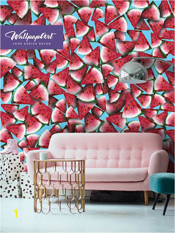 $36 80 Wall Mural Wallpaper Bohemian Watermelon Removable Wall Art Beautiful Wall Mural Watermelon A great Removable wallpaper decoration for your wall