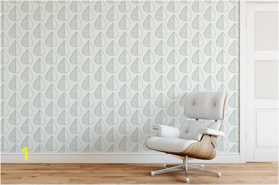 Minimalistic removable wallpaper Self adhesive temporary wall paper leaves pattern Nordic design wal