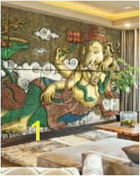 3d Wall Murals Mural Art Wall Wallpaper Ganesh Abstract Gallery Puja Room Indian Homes Home Decor
