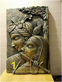 Mural Wall Art Mural Painting Plaster Art Krishna Art Rock Art line Art Pencil Art Sculpture Art Emboss Painting