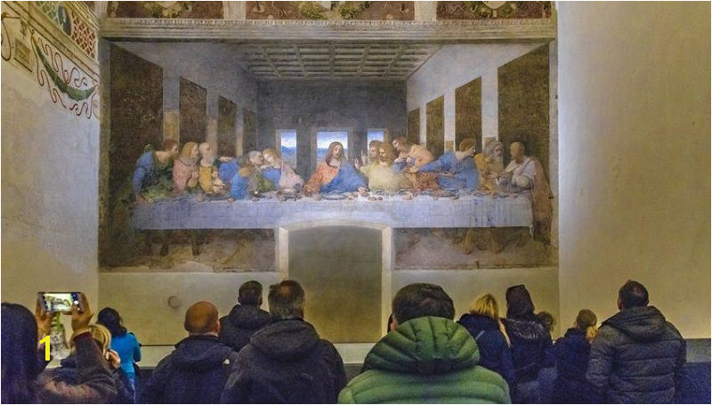 of The Last Supper at Santa Maria delle Grazie Church Milan Italy