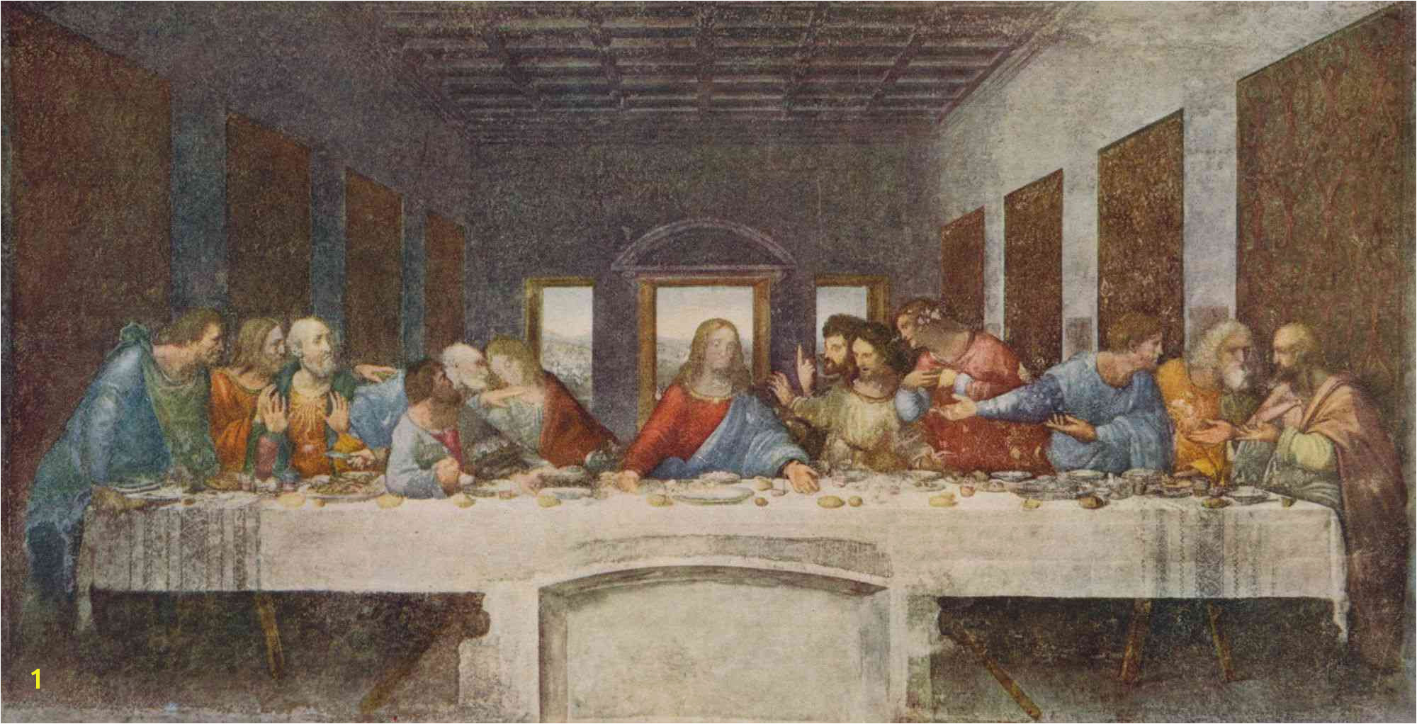 The Last Supper 1494 1498 Artist Leonardo Da Vinci