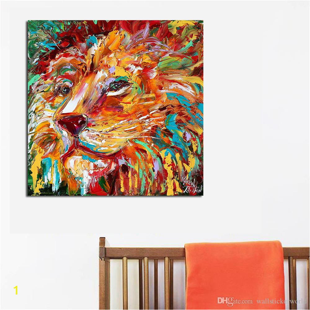 The Colorful Lion King Painting Wall Art Home Decor Modern Canvas Print No Frame For Living