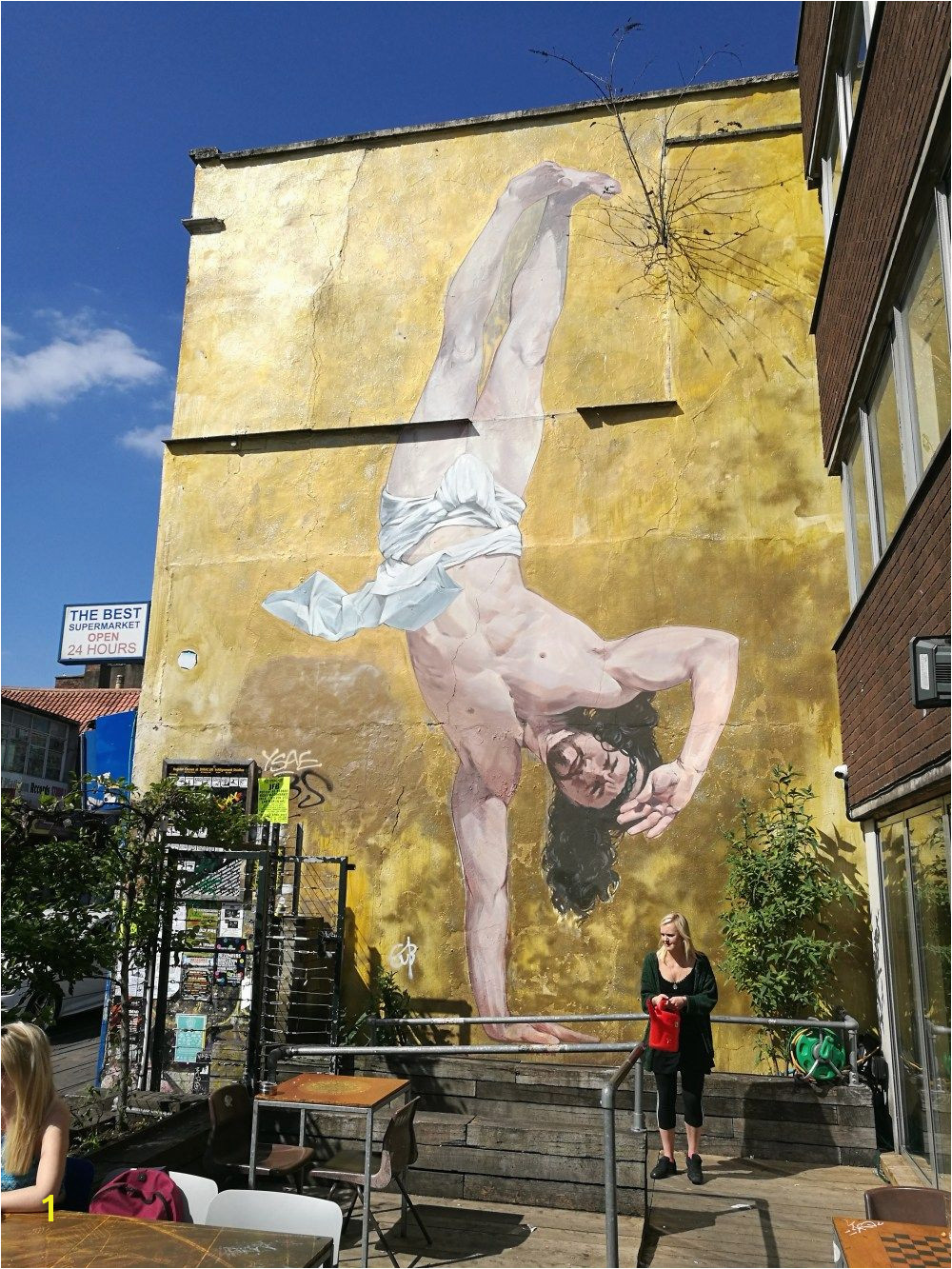 """Jesus Breakdance"" by Cosmo Sarson in Bristol close to the canteen """