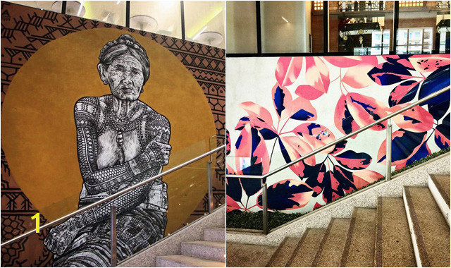The Wall that Cracked Open Mural Sm Aura Launches Art In Aura at Bonifacio Global City