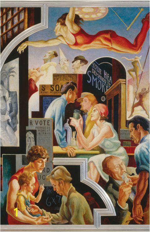 "Thomas Hart Benton Murals Thomas Hart Benton Detail Of ""america today "" 1930–31 Permanent"