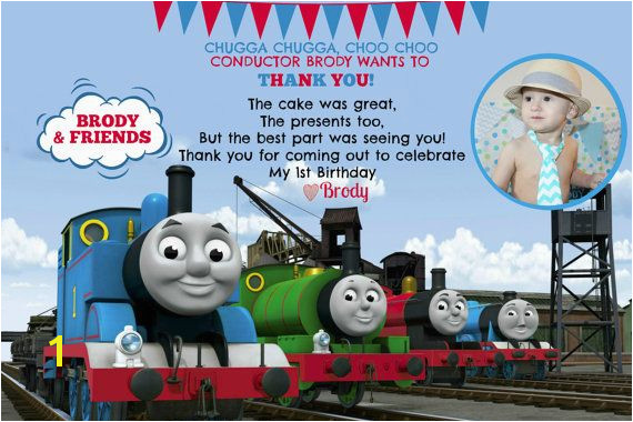 Thomas The Train Invitation and Thank You Card by Pleased2Announce